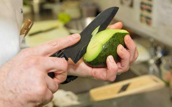 Food Training to Prevent Knife Injuries from Avocado Prep