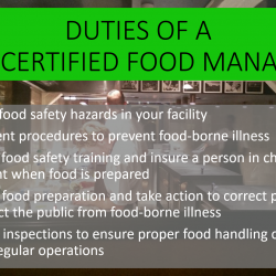 Duties of a MN Certified Food Manager